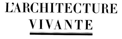 L'Architecture Vivante 1933