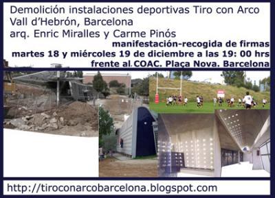 Demolición instalaciones Tiro con Arco